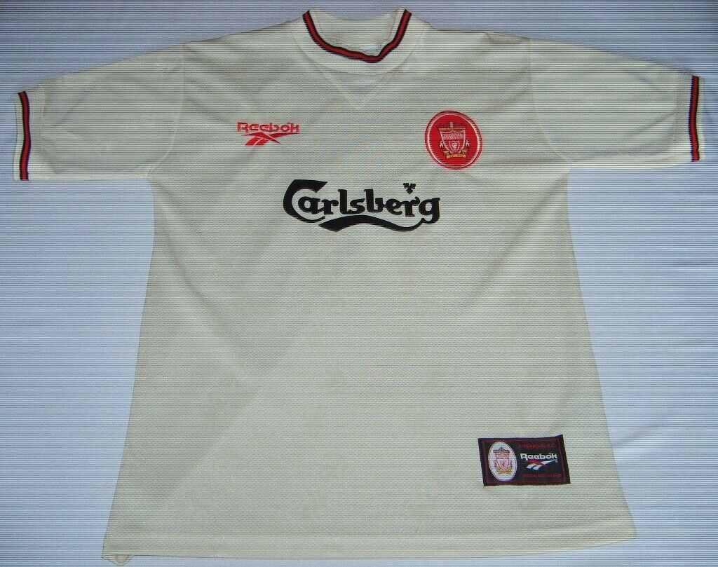 on sale bea51 cceab Vintage Retro Liverpool Football Club LFC 96/97 season away jersey/shirt |  in Leicester, Leicestershire | Gumtree