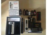 Selection of used vape equipment