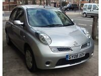 T-Z CARS PRESENT A 2008 NISSAN MICRA 1.2 ACENTA AUTOMATIC 5DR 6 MONTHS WARRANTY DELIVERY SERVICE