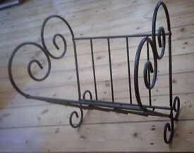 Stylish iron magazine rack