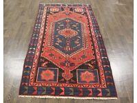 Lovely Persian Traditional Vintage Wool 3.8 x 6.9 Oriental Rug Handmade Carpet Rugs Tribal Boho