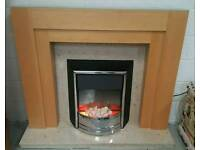 Complete fire place with marble backing& Harth can deliver 07808222995