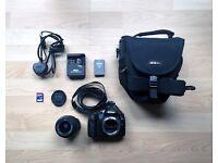 Nikon D3000 - 18-55mm lens - Camera bag - 2GB SD Card - Great for beginners!