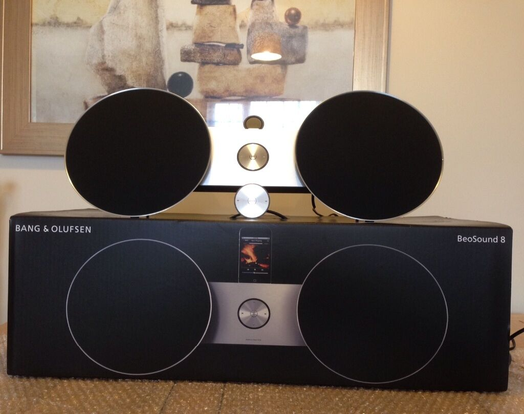 bang and olufsen beosound 8. b\u0026o / bang and olufsen beosound 8 music system in black,excellent condition beosound