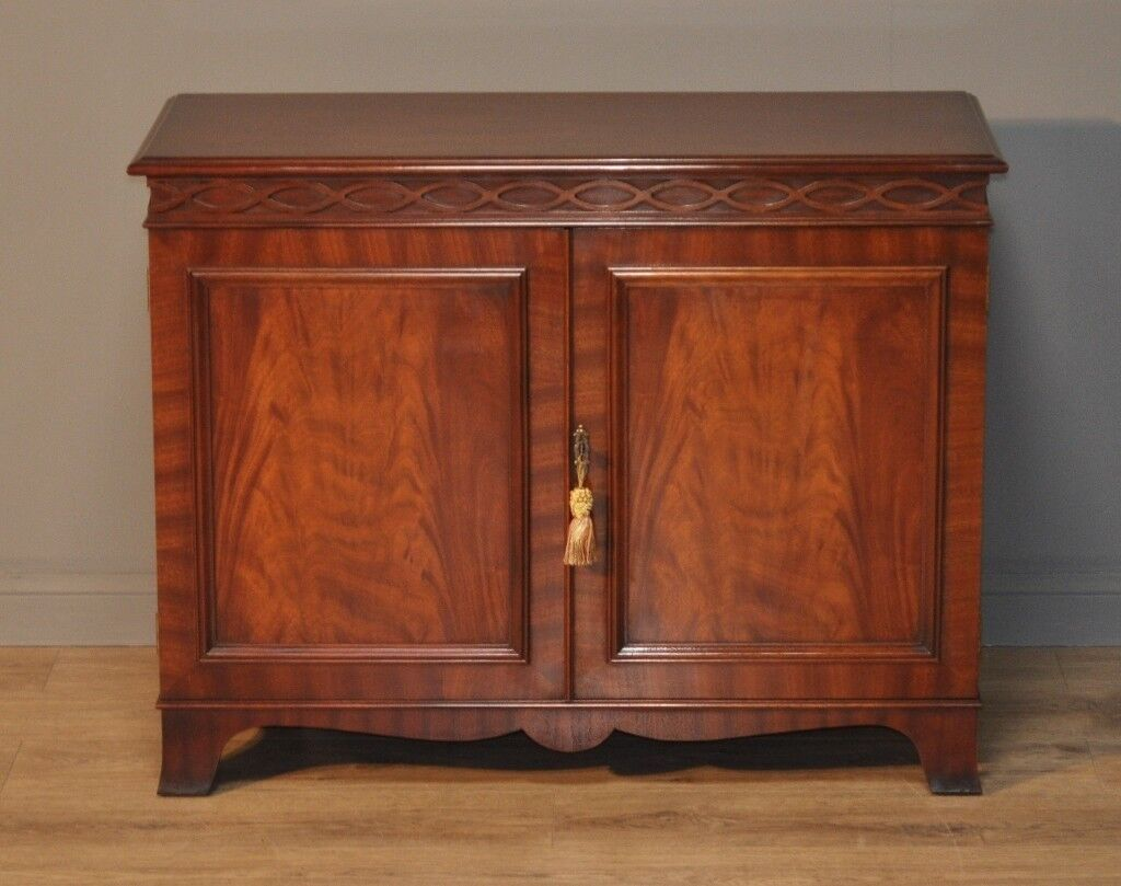 Attractive Vintage Antique Style Mahogany Two Door Cabinet Small