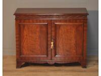 Attractive Vintage Antique Style Mahogany Two Door Cabinet, Small Sideboard