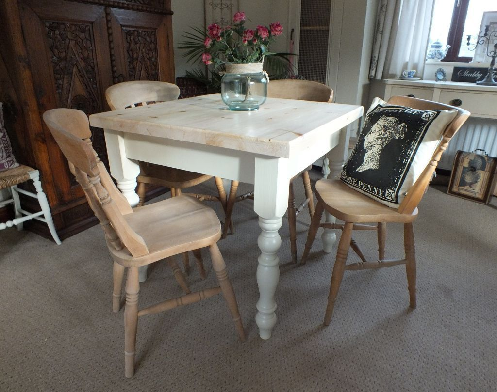 Pine Farmhouse Kitchen Table Lovely 3x3 Square French Shabby Chic Style Pine Farmhouse