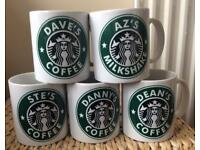 Personalised Starbucks Style Coffee Mug