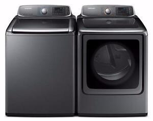 Combo laveuse 6.1 pi3 / sécheuse 7.4 pi3, chargement frontal, couleur Noir, Samsung