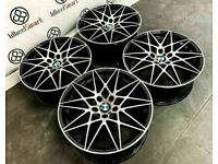 "BRAND NEW 19"" 20"" BMW COMPETITION PACK STYLE ALLOY WHEELS - 5 x120 -BLACK/DIAMOND CUT FINSIH"