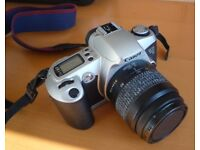 Canon EOS 500N 35mm film camera with 2 lenses
