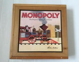 Monopoly Nostalgia Wooden Box Edition