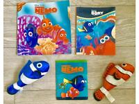 Finding Nemo books and soft toys