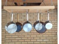 Large hanging pots and pans rack