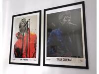 Oasis - Noel and Liam Gallagher framed prints