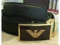 New Armani leather designer belt men