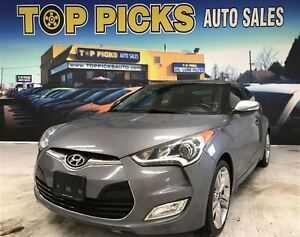 2014 Hyundai Veloster TECH PACKAGE, 6 SPEED, PANORAMIC SUNROOF,