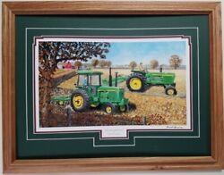 COMMON GROUND by Dave Barnhouse 17x23 FRAMED PRINT Farmall John Deere Tractors