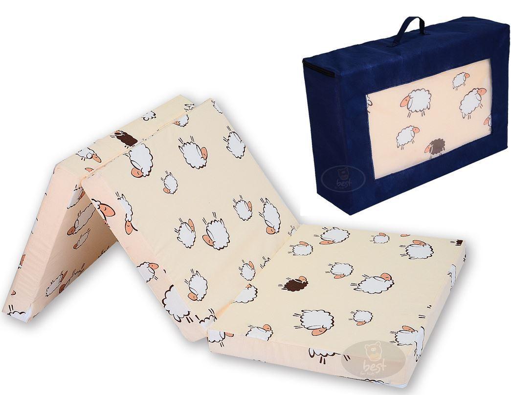Matratze für das Reisebett Klappmatratze 120x60x6 inkl Transporttasche Baumwolle