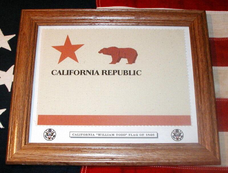 California Bear Flag of William Todd,  California State Flag of 1846