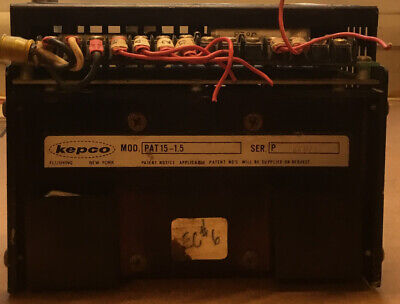 Kepco Model Pat 15-1.5 Power Supply