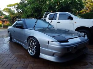 Nissan 180sx OEM STYLE CARBON BONNET and HEADLIGHT COVERS