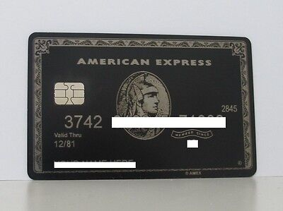 American Express Centurion Metal Card Amex With Chip