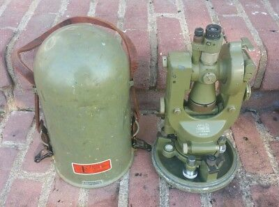 Vtg Wild Heerbrugg Theodolite T1-24104 Switzerland Metal Case Survey Instrument