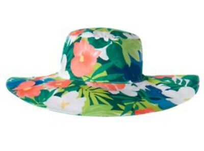 NwT GYMBOREE Girls SUNNY SAFARI SUMMER Flower Floral Hat Size M 7-8