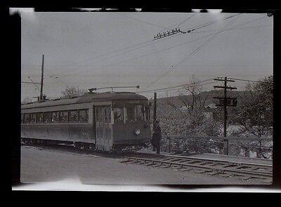 Monongahela West Penn Public Service Trolley Clarksburg Wv Photograph Negative 1