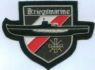 German Kriegsmarine Uboat U Boat Sub Wolf Pack Sea Battle Cross Black War Patch