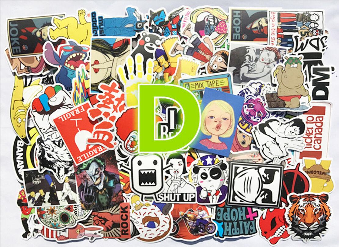 100pcs Sticker Bomb Graffiti Vinyl For Car Skate Skateboard Laptop Luggage Decal