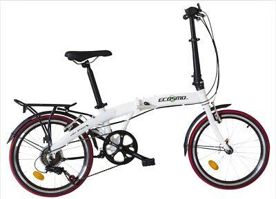 "Ecosmo 20"" Wheel Lightweight Aluminium Folding Bicycle Bike 7 SP,11.5kg- 20AF09W"