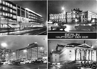 Hauptstadt Vier (AK, Berlin - Hauptstadt der DDR, vier Nachtansichten, 1978)