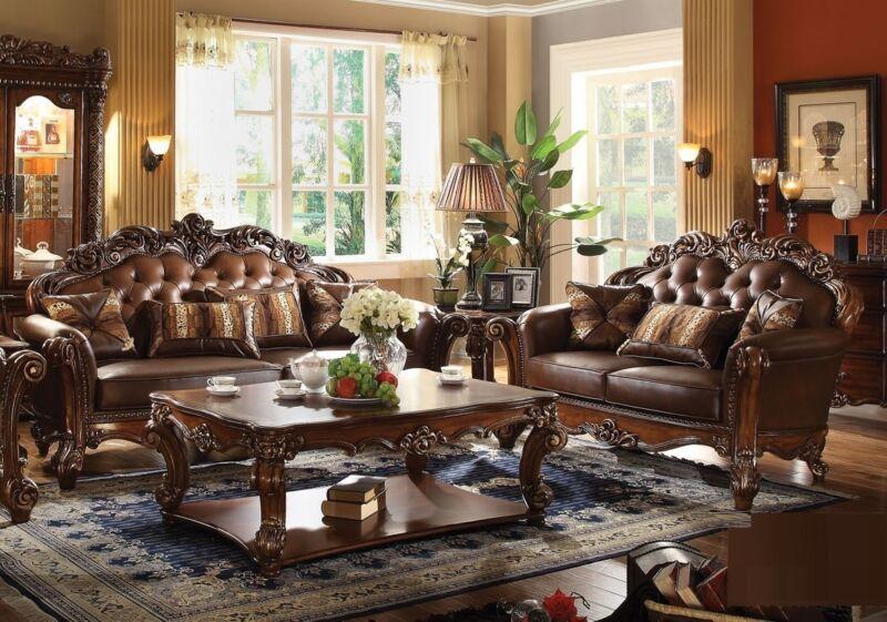 Majestic Vendome Cherry Traditional Formal Living Room 2pc Set Sofa & Loveseat