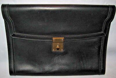 VINTAGE GUCCI black Leather - Letter Size Portfolio - Great Pad case!! - EUC