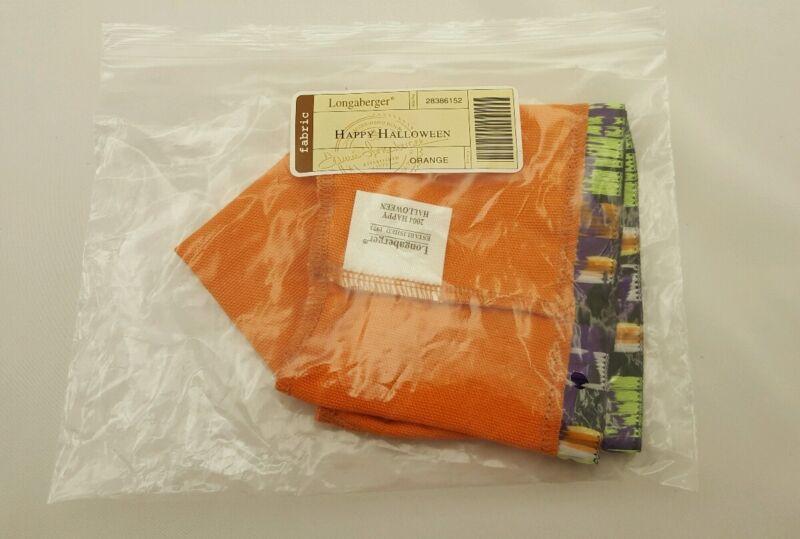 Longaberger Happy Halloween Basket Orange Liner 28386152 NEW NIB Free Ship