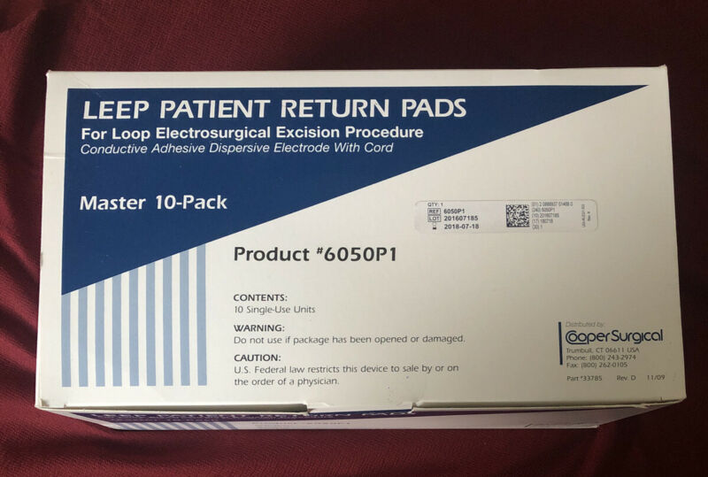 LEEP Patient Return Pads 6/PK - 6050P1