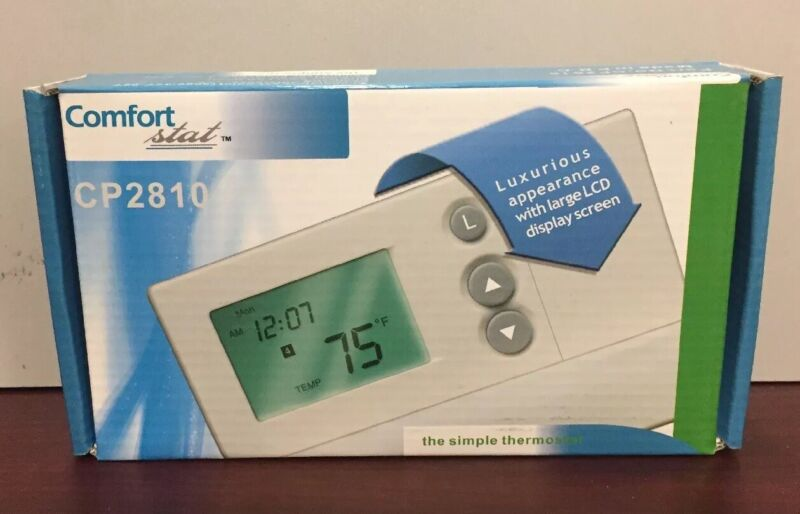 COMFORT-STAT 2H/1C 7-DAY PROGRAMMABLE HP/AC THERMOSTAT CP2810