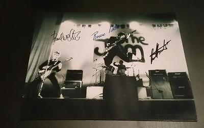 "THE JAM BAND X3 PP SIGNED 10""X8"" PHOTO PAUL WELLER MOD REPRO"