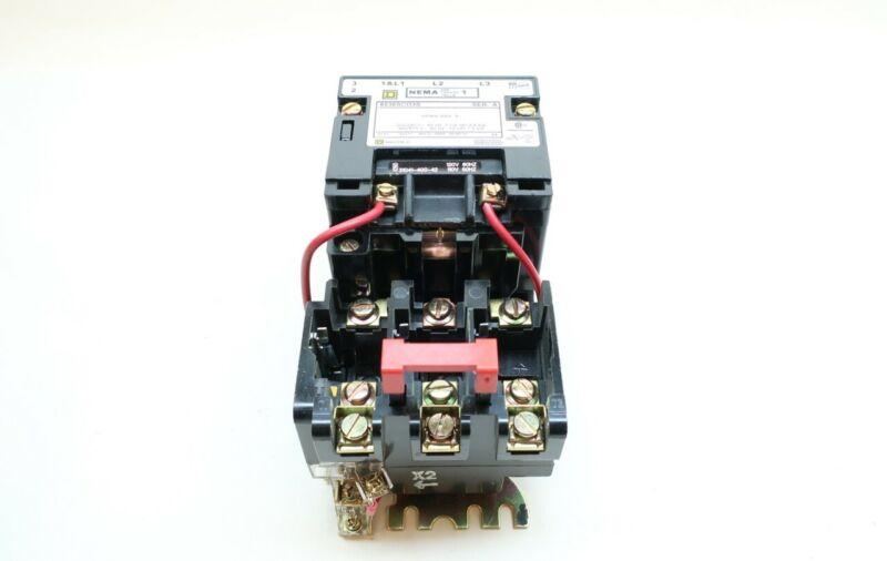 Square D 8536SCO3V02S Full Voltage Starter 120v-ac 10hp Size 1