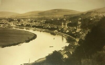 Vintage 1910's Photo of Miltenberg Bavaria Germany by River Signed by Brodhay?