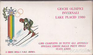 SPORT-Winter-Olympic-Games-Lake-Placid-1980-Box-with-20-Covers-Cards