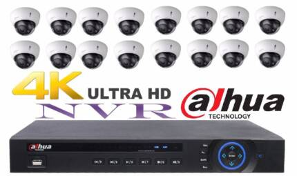 Dahua, 16 x DOME WATER PROOF CCTV CAMERAS WITH 16 CHANNEL NVR 4TB