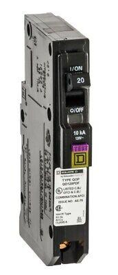Square D Qo 20 Amp Single-pole Plug-on Neutral Dual Function Circuit Breaker