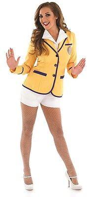 Damen 1980s Jahre Hi Di Hi Rep Hotpants Kostüm Kleid Outfit UK 8-22 Übergröße