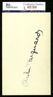 RUBE MARQUARD JSA AUTHENTICATED AUTOGRAPH 3X5 INDEX CARD SIGNED