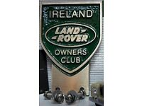 Land Rover Overseas Owners Club Cast Brass Grill Bumper Badge Top Quality