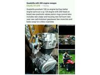Quad bike quadzilla 100 cc 200cc engine