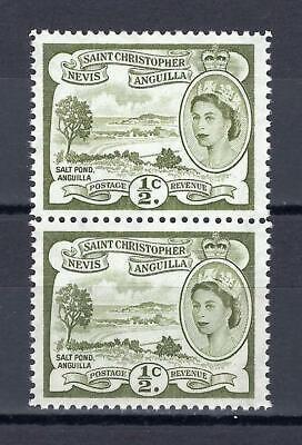 St Kitts Nevis 1954 Sc# 120 Saint Christopher Anguilla Elizabeth pair MNH